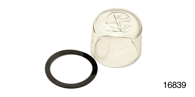 1955-1957 Chevy Fuel Filter Gl Bowl and Gasket, w/ AC Markings on