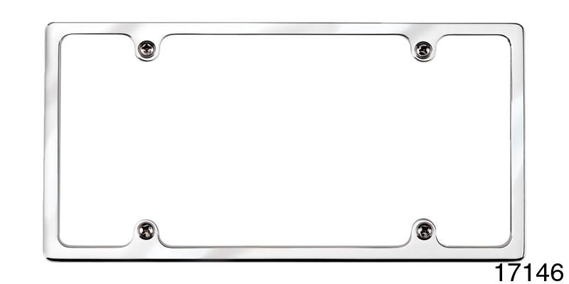 Billet Specialties Chevy Billet Slim-Line License Plate Frame, Polisthed