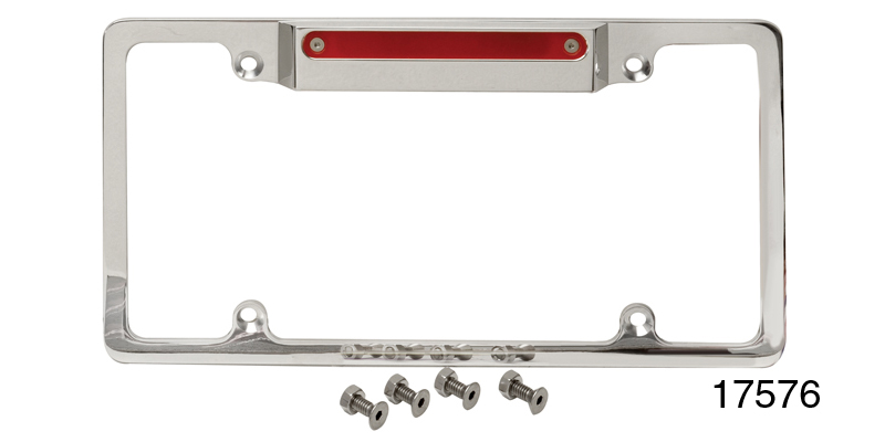 Billet Specialties Chevy License Plate Frame w/ Light and Third ...