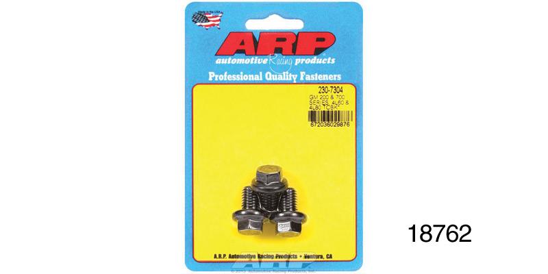 ARP Chevy Torque Convertor Bolts, M10 x 1 5, Hex Head, TH200/700, 3-Pieces