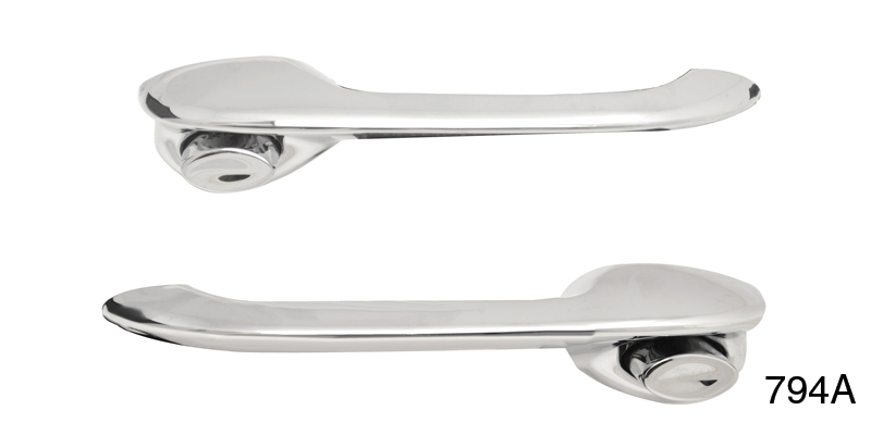 Danchuk 1955 1957 Chevy Outside Door Handle Assembly, Sedan, Nomad, Wagon  Front And Rear And 4 Door Hardtop Front Doors (Best)