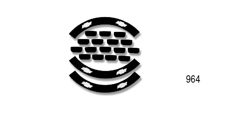danchuk 1956 chevy bel air hubcap decals  black