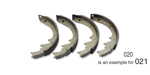 1951-1958 Chevy Brake Shoes, Front, Axle Set