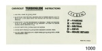 1957 Chevy Turboglide Sunvisor Instruction Sleeve