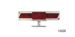 Billet Chevy Bow Tie Pedestal Third Brake Light, Brushed