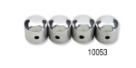1957 Chevy Polished Aluminum Firewall Plate Locks, Set