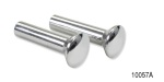 1940-1957 Chevy Polished Aluminum Door Lock Knobs, w/ Plain Head, Pair