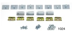 1955-1957 Chevy Belt Moulding Clip Set, 210 2-Door Sedan, Replacement Style