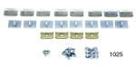 1955-1957 Chevy Belt Moulding Clip Set, 210 4-Door Sedan, Replacement Style