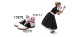Socks For Poodle Skirt Outfit, Pink