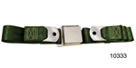 1955-1957 Chevy Driver Quality Front Seat Belt Set, Dark Green