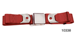 1955-1957 Chevy Driver Quality Front Seat Belt Set, Red