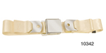 1955-1957 Chevy Driver Quality Front Seat Belt Set, Ivory