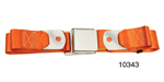 1955-1957 Chevy Driver Quality Front Seat Belt Set, Orange
