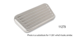 Lokar 1955-1957 Chevy Non-Power Billet Brake Pedal Pad, XL Series,  Brushed and Ball Milled