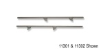 1955-1957 Chevy Glass Metal Channel, 2-Door Wagon, Rear, Driver Side