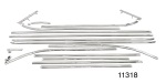 1955 Chevy Stainless Steel Interior Door Panel Trim Kit, Nomad