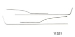 1956 Chevy Stainless Steel Interior Door Panel Trim Kit, 210 2-Door Hardtop