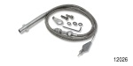 Lokar Chevy Hi-Tech Kickdown Cable, TH-350 w/ Tuned Port, Stainless Steel Housing