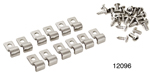 Kugel Chevy Stainless Steel Line Clamps, Single, 1/4'', 12 pk