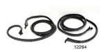 1956-1957 Chevy Front Door Weatherstrip Seals with Molded Ends, 4-Door Hardtop