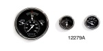 Classic Instruments 1957 Chevy Tetra Series Gauge Set, Black Face w/ White Font & White Pointers, Curved Lens