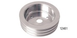 Chevy Polished Billet Aluminum Crankshaft Pulley, Triple Groove, Small Block w/ Short Water Pump