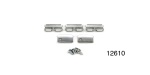 1955-1957 Chevy Moulding Clip Set, Upper Door Window, 1-Door Only, 4-Door Sedan and Wagon