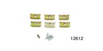 1955-1957 Chevy Moulding Clip Set, Lower Quarter Window Moulding, 4-Door Wagon