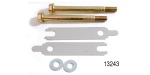 Powermaster Chevy Starter Bolt & Shim kit (Inline Shim), Natural Finish