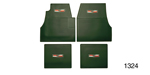 Danchuk 1955-1957 Chevy Floor Mats with Crest Logo, Green