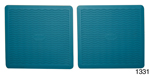 Danchuk 1955-1956 Chevy Factory Accessory Floor Mats, Turquoise