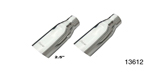 Pypes Chevy Slip-Fit Stainless Exhaust Tips, 3'', Pair
