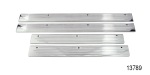 1955-1957 Chevy Polished Aluminum Sill Plates, 4-Door Sedan and Wagon
