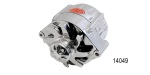 Powermaster Chevy Polished Bullet Alternator, 140 Amp, w/ V-Belt Pulley