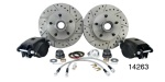 1955-1957 Chevy Front Disc Brake Conversion Kit, Drop Spindles w/ Performance Upgrades