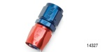 Russell Performance Chevy Hose End, Straight, -6AN, Red/Blue