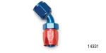 Russell Performance Chevy Hose End, 45°, -4AN, Red/Blue