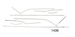 1955 Chevy Stainless Steel Interior Door Panel Trim Kit, Bel Air 2-Door Hardtop