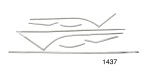 1955 Chevy Stainless Steel Interior Door Panel Trim Kit, Bel Air Convertible