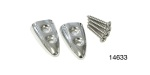 1955-1957 Chevy Chrome Pull Strap Tips with Screws, Pair