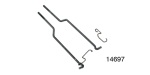 1955-1957 Chevy Door Lock Rods with Clips, Sedan/Wagon, Pair