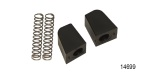 1955-1957 Chevy Lower Tailgate Wedges with Springs, Wagon, Pair