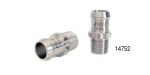 Performance Stainless Steel Chevy Stainless Heater Hose Fitting, 12-Point, 3/4'' ID x 1-3/4'', 1/2'' NPT