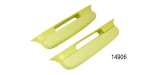 1957 Chevy Bel Air Upholstered Armrests, Yellow, Pair
