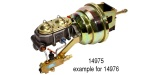 1955-1957 Chevy Offset Power Brake Conversion Kit, Disc/Disc, 8'' Dual Diaphragm w/ Proportioning Valve