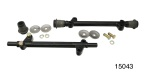 1955-1957 Chevy Lower A-Arm Shafts w/ Rubber Bushings, Pair