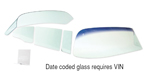 1955-1957 Chevy 2-Door Sedan Side Glass w/ Frames, Clear, 6-Piece Set, No Date Code