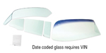 1955-1957 Chevy Nomad Side Glass w/ Frames, Tinted, 4-Piece Set, No Date Code