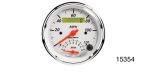 Auto Meter Chevy Artic White Programmable Tach/Speedometer Combo Gauge, 8K, 120 MPH, 3-3/8''